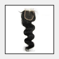 Brazilian Hair Natural Color Body Wave bleached the knots,Body Can Be Dyed and Bleach ,Brazilian Virgin Remy Hair Closure,(4*3) Inch