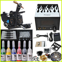 Wholesale Beginner Tattoo Kit Machine Gun Ink Power
