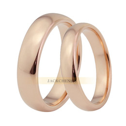 Electroplating rose gold ring tungsten gold couple ring wedding ring