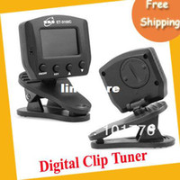 Wholesale EMS Chromatic Digital clip tuner with red to green status indicator
