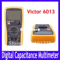 Wholesale LCD VICTOR Capacitance Meter Buzzer alarm data hold Diode and Transistor