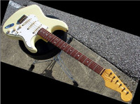 Wholesale best Custom Shop Strat Relic Vintage White Rosewood Fretboard electric guitar OEM Available