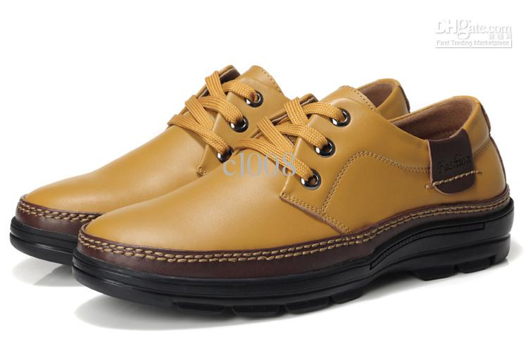 Luxury Calf Casual Shoe Men Lace Up Leather Shoe Waterproof