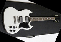 Solid Body 6 Strings Mahogany best Factory Mahogany guitar best cherry sg Great custom 2 Pickups electric guitar black OEM Availab