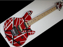 Wholesale RED and white Edward Van Halen series ARI tremolo Electric guitar