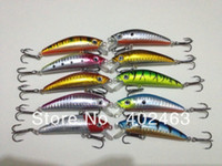 Wholesale sales promotion sinking fishing lures hard plastic fishing bait Dual Hooks cm g