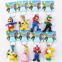 Wholesale 8x Super Mario Bowser Yoshi Figures Key Ring Chain