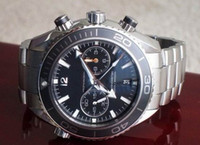 Wholesale LUXURY MENS AUTOMATIC WATCH OCEAN DIVE CHRONO CHRONOMETER BLACK DIAL PLANET MEN DATE WATCHES