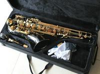 Wholesale best selling Black Nickel Tenor Saxophone in free case