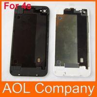 Заднее стекло Батарея Корпус Дверь задняя крышка Замена части с рассеиватель для Iphone 4 4S