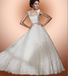 Wholesale 2012 Best Style Custom Made Beautiful Sexy Bride Wedding Dress Square Neckline Bridal Dresses