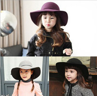 hats elegant - children Caps grils hats baby hat Kids Top Hat Children Accessories Elegant romance girl cap