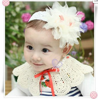 Flower Hairband 50-100piece/lot Children hair band Baby hair accessory Korea Baby hairpin Chiffon flowers 2013 Children Accessories
