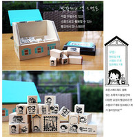 Wholesale Decoration Stamp Wooden House Style Anne of Green Gables Stamp Seal Set