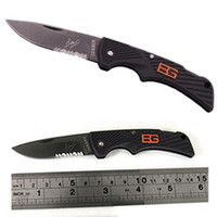 Wholesale GERBER Bear Grylls Scout Knife Camping Folding knife Half Serrated Blade Knife