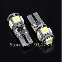 Wholesale T10 Canbus W5W SMD LED Error Free White Light Bulbs