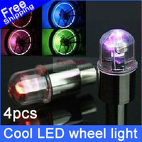 Wholesale 4pcs Bicycle motorcycle Flash LED Wheel light car Valve Cap Lamps Bike DRL