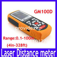 Wholesale GM100D Photoelectric Handheld Laser Distance Meter Measure m meter in ft M