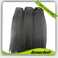 Wholesale Stock Peruvian Virgin Remy Human Hair Weft Weave g pc inch Silky Straight Freeshipping
