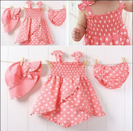 Wholesale Girls suits Pink hat dress shorts set SENSHUKAI sets spunky kids