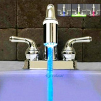 Wholesale Chrome LED Faucet Light Change Color with the Water Temperature Light