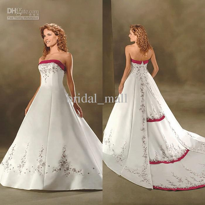 Wedding Dresses Hot Pink And White 43