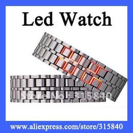 Wholesale 6pcs LED Watch Iron Samurai Metal Bracelet Watches WH12
