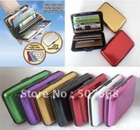 Wholesale Aluminium Credit card wallet cases colors available card holder bank card case wallet