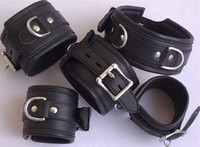 Wholesale Best price set Neck Wrist amp Ankle Restraints Cuffs GIMP Mask Bondage Fetish Gay Ringlock