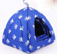 Wholesale red yurts small dog Teddy lovely warm cotton nest dog house outdoor tent S M L size pet kennel