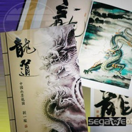 Wholesale Chinese Traditional Ink Painting of Dragons Flash Book