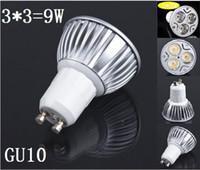 Wholesale DHL GU10 x3W Spot Light LED Spotlights energy saving light bulbs LED lamp cup WLED spotlights3 W