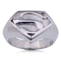 Teboer bijoux 3pcs Superman 316 en acier inoxydable Anneau Argent MER223