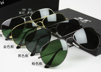 Full Frame Mixed color Yes AAA 58mm fashion sunglasses, Men's Women's sunglasses, Sunglasses Black frame green lens R5 #30025