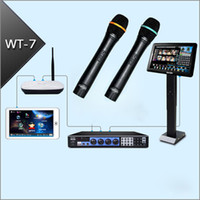 Wholesale KARAOKE machine Jukebox TB HD Wired Microphones quot IR touch screen Touch pad