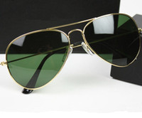 Wholesale AAA Fashionable Mens Womens Designer Sunglasses Sun Glasses mm Lens Gold Frame green Lens