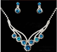 jewelry paris - paris spring wedding jewelry set earrings necklace party star sea star blue crystal