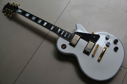 Wholesale Custom shop Alpine white ebony electric guitar gold hardware Mother of pearls inlay in stock
