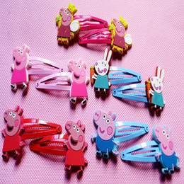 Wholesale New Peppa pig hairpin clip George pig pepe pig styles hair ornament BB clamp