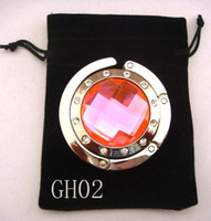 Wholesale 5cm round metal foldable bag hanger bag hook purse hook purse hanger mixed color GH02