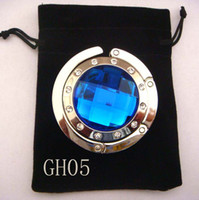 purse hanger wholesale - 5cm round metal foldable bag hanger bag hook purse hook purse hanger mixed color GH05