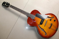 Wholesale China guitares model Hollow Electric guitar with one P90 PICKUP sunburst HOT SALE