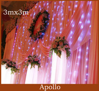 Wholesale 300 LED Curtain Light m m Wedding Party Holiday Flash Xmas Decoration String Fairy Light