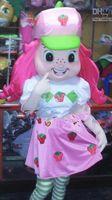 Free Size Animal Christmas Strawberry Shortcake Teen Girl Maiden Maid Mascot Costume Adult Fancy Dress Cartoon Suit Free Ship