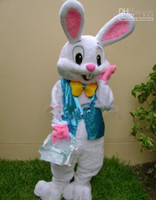 Wholesale NEW PROFESSIONAL EASTER BUNNY MASCOT COSTUME Bugs Rabbit Hare Adult Fancy Dress Cartoon Suit