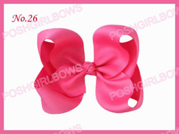 free shipping 120pcs Good Girl Costume Boutique 6.5 Inch ABC Hair Bows Mix color boutique hair clips