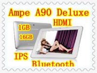 Wholesale Ampe A90 Deluxe Tablet PC Inch Android IPS Screen GB Bluetooth HDMI Silver Aluminum Shell
