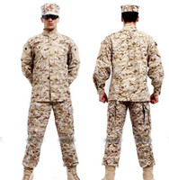 Wholesale New Paintball COAT PANTS Desert Camouflage Combat BDU Uniform military uniform BDU Wargame