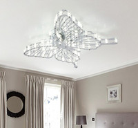 Wholesale Modern Fashion Creative Acrylic Butterfly LED Ceiling Lamp Chandelier Living Room Restaurant Lights