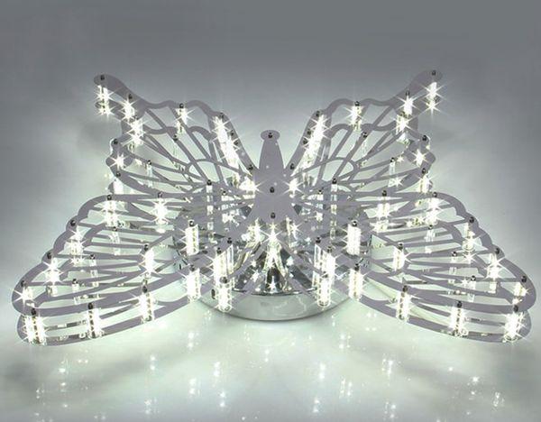 Moda fotografia acrilico farfalla led soffitto lampada lampadario ...